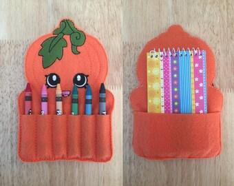 Pumpkin Crayon Holder AND Notebook Holder