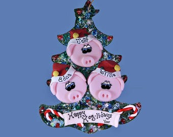 Pig ornament (3) Family tree