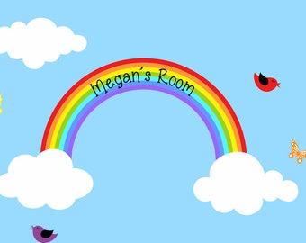 Rainbow Decal Reusable Rainbow Wall Decal Children Wall Decal Kids Sticker Room Decor Large