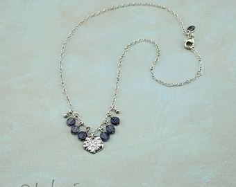 Sea Star and Iolite Sterling Silver Necklace
