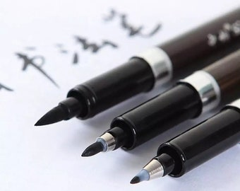 3x Calligraphy Set Calligraphy Pen Set Calligraphy Pens Brush Pen Felt Tip Pen Planner Pens Bullet Journal Pen Black Pen Brush Lettering