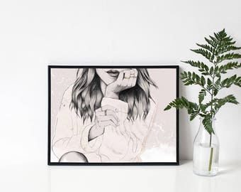 Illustration // Poster // Fashion // Dreams // Drawing // DIN A3