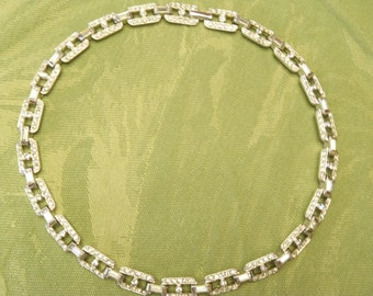 Vintage Impostors Brand Faux Diamond Choker Necklace Hollywood Red Carpet Glamour