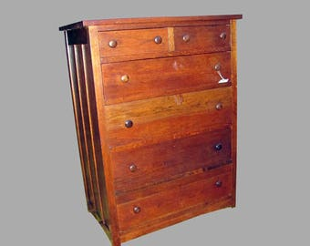 Antique Compack Chest Of Drawers  w2993