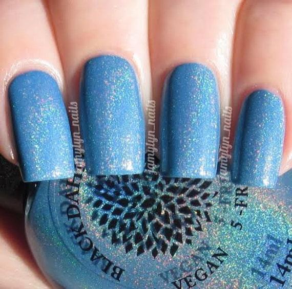 Cornflower Blue Holo Nail Polish By Black Dahlia Lacquer