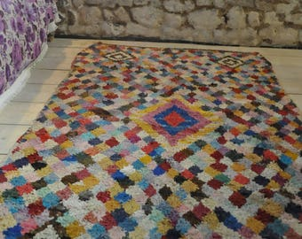 Beautiful vintage rag rug
