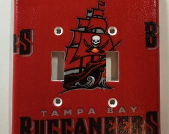 Tampa Bay Buccaneers Double Toggle Light Switch Plate Cover