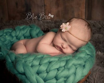 Newborn blanket photo prop textured layering posing blanket stuffer poser Basket filler bum RTS UK seller