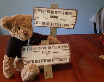 Teddy Bear Picnic Party Signs