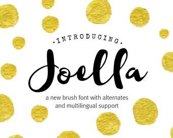 Digital font - Brush Script Font - Calligraphy font - Joella font - Wedding font - Can be used for a photography logo Monogram