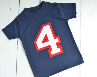 4 Year Old Birthday Shirts Boy Shirt Four Gift Varsity Applique