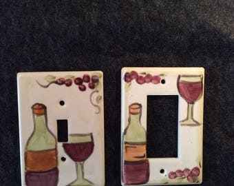 Wine Switch Plate Cover