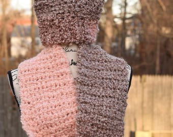 Hat and scarf set, scarf, hat