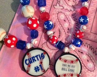 Super Chunky Baseball Necklace