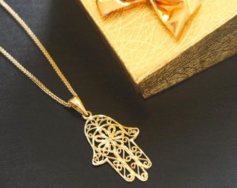 Chai Gold Necklace Jewish Jewelry 14k Gold Necklace Holy