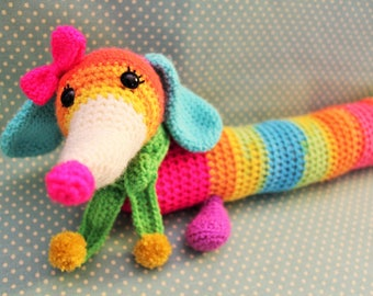 Amigurumi Wiener Dog Pattern : Sausage dog pattern etsy