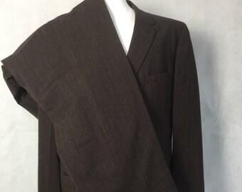 1950s suit brown stripe