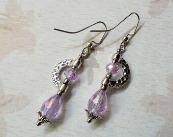 Alexandrite and Silver Boho Earrings (3389)