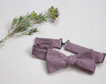 Bow tie-adjustable adult plum with specks of color