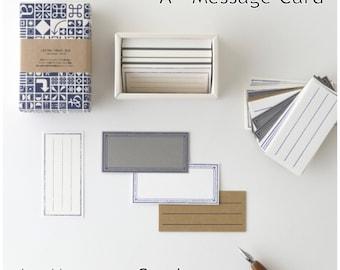 Yamazoe Letter Press Box (Memo and Mesage Card)