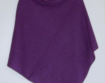 Poncho Soft Merino Lambswool Lupin Purple