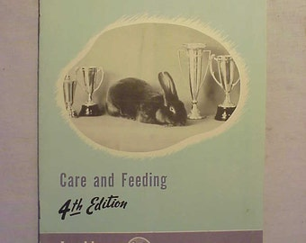 c1950s Rabbits Care and Feeding By Chas. M. Cox Co. Printed By Wirthmore Dairy Feeds Malden,Mass. ,Vintage Agricultural Booklet