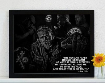 Framed Sons Of Anarchy - Come Join The Crow