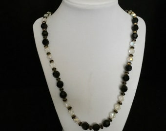 Vintage Crystal Bead and Gold filled Necklace  VG2218