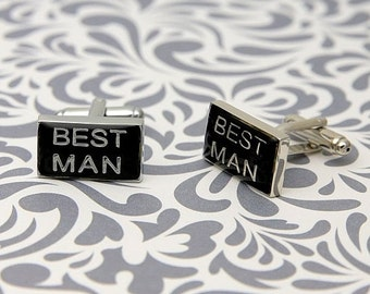 ON SALE Best Man Wedding Cufflinks