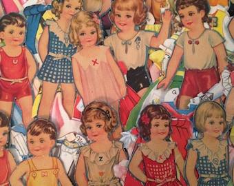 Vintage 1940's 25 pc. Paper Doll Set