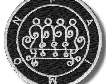 Sigil of Paimon - embroidered patch, 8x8 cm