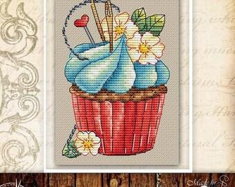 Cupcake cross stitch pattern cupcake embroidery food cross stitch kitchen cross stitch dessert cross stitch cake cross stitch chart baking