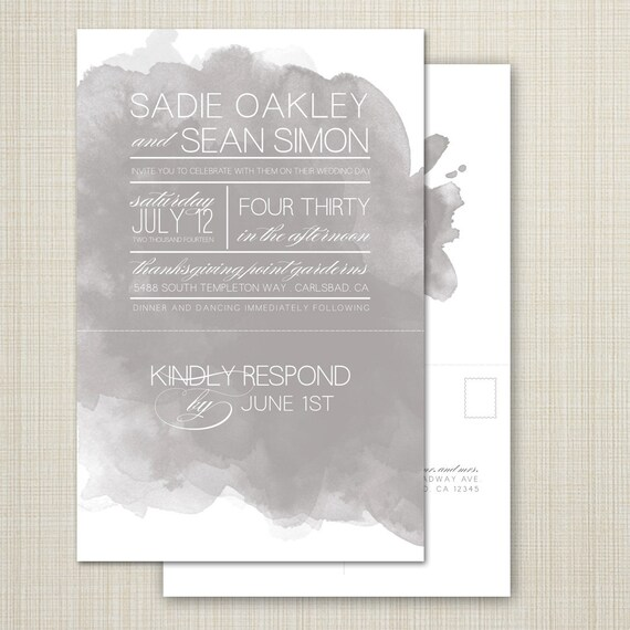 Custom Perforated Wedding Invitations With Tear Off Rsvp