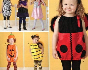 FREE US SHIP Costume Halloween Pretend Play Sewing Pattern Simplicity 0809 2304 Girls Halloween Costume Ladybug Dog Pumpkin Baby Toddler
