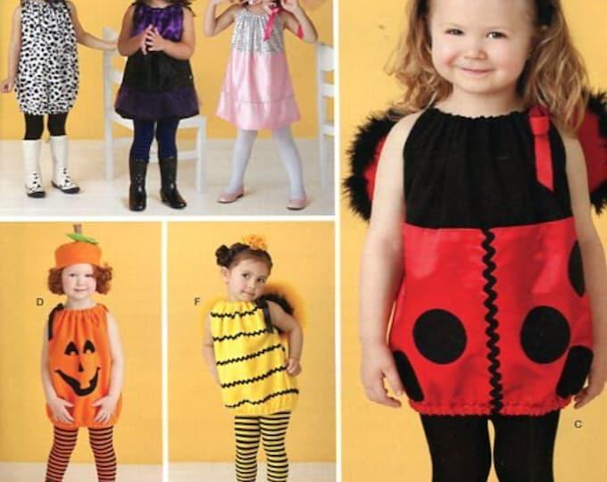 FREE US SHIP Costume Halloween Pretend Play Sewing Pattern Simplicity 0809 2304 Girls Halloween Costume Ladybug Dog Pumpkin Baby Toddler
