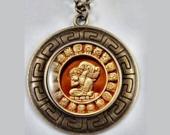 Mayan Calendar, Ancient Calendar, Mayan Pendant