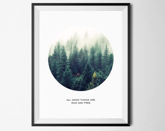 Forest Print, Nature Print, Forest Photography, Nature Photography, Forest Wall Art, Nature Landscape, Mist Forest Poster, Foggy Forest Art