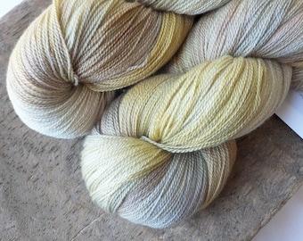 Jaunty Jonquil - Hand Dyed Merino Silk Lace Yarn