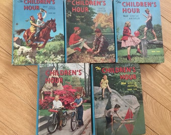 Vintage Books 1-5 Children's Hour with Uncle Arthur Book copyright 1945-1949