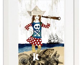 Set of 2 Art Poster Prints - Pirate Anna & Pirate Marcello