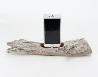 Docking Station for iPhone, iPhone dock, iPhone Charger, iPhone Charging Station, iPhone driftwood dock, wood iPhone dock/ Driftwood-No.1035