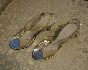 Real Vintage Acrylic and Plastic See Through High Heel Shoes