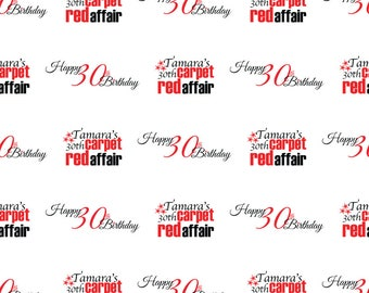 Custom Hollywood Red Carpet Celebration Birthday Backdrop Banner Printed Background Photo Booth Prop (Any Text Color)