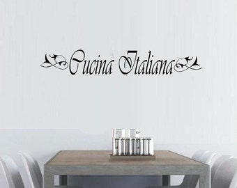 Italian wall decal | Etsy