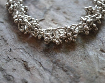 Sterling Silver Spiral Chainmaille Bracelet