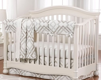 Easton Crib Bedding 4-pc | Gender Neutral Baby Bedding | Modern Baby Bedding
