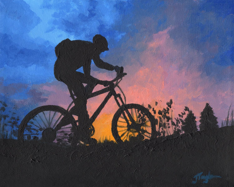 Mountain Bike Art Bike Art Print Sunset Bike