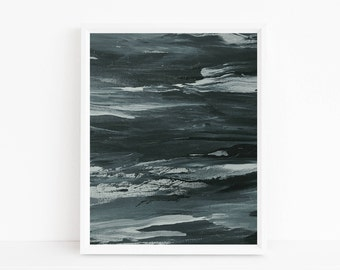 Teal abstract print, abstract art, abstract art print, abstract print, abstract wall art, abstract watercolor, scandinavian modern