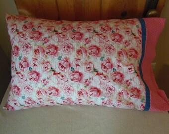 Sweet Pink Roses Pillow Case