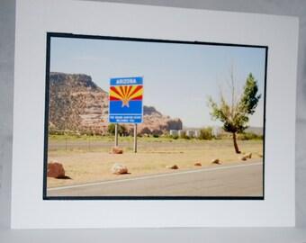 Photo card, Welcome to Arizona Sign
